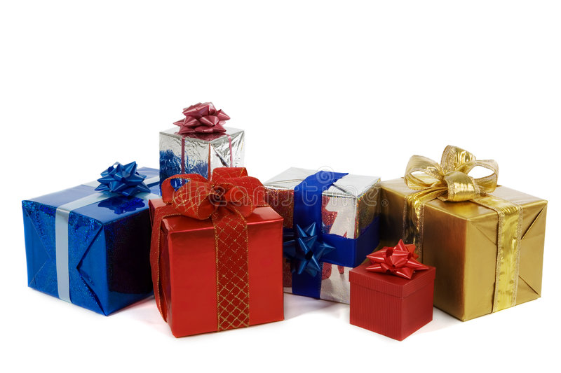 Download Many colorful presents stock photo. Image of gold, celebration - 1388760