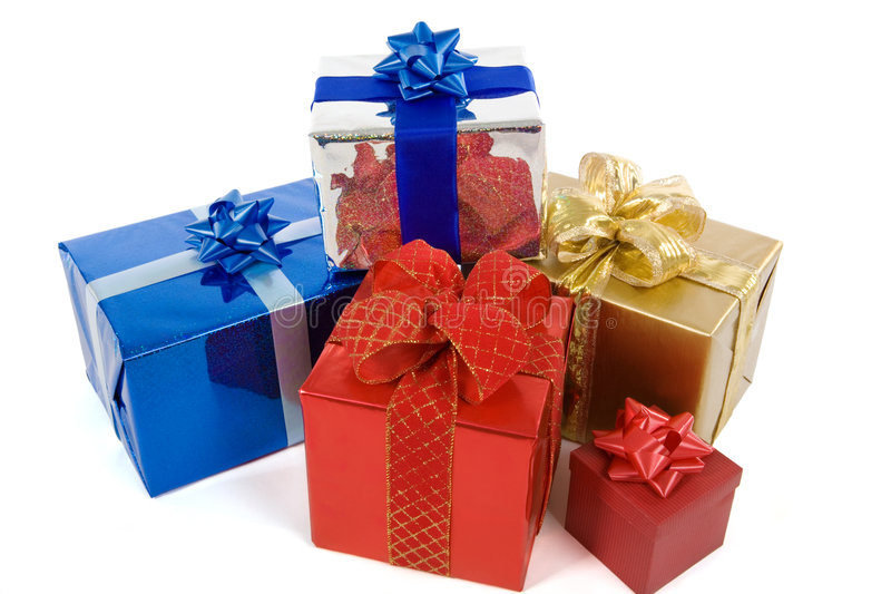 Download Many colorful presents stock image. Image of colourful - 1414803