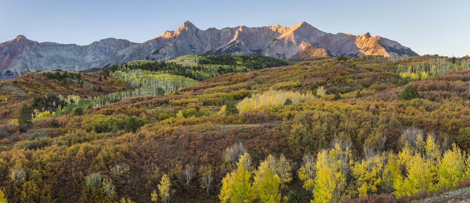 The Many Colors of the Dallas Divide Sunrise stock photos