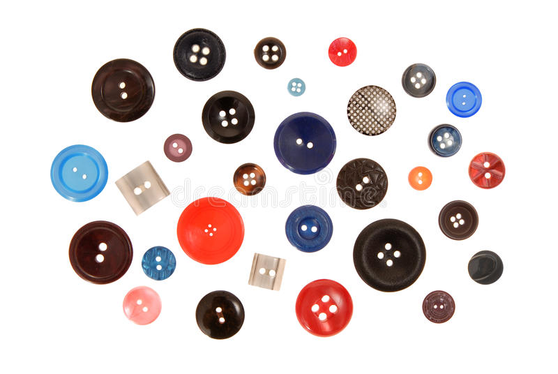 Many-coloured buttons royalty free stock photos