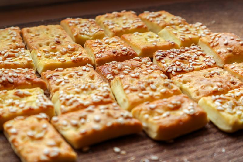 Cookies on a cutboard stock photography