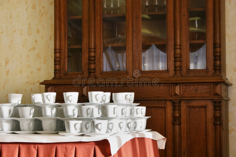 Many cups stock images