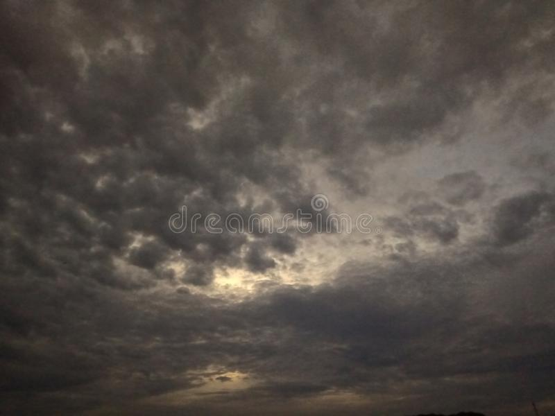 Many dark cloud beautiful scene stock photography