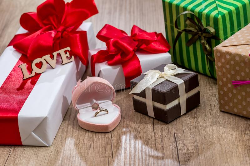 Many decorated gift boxes with ribbon bows and open box stock photo download many decorated gift boxes with ribbon bows and open box stock photo image of negle Image collections