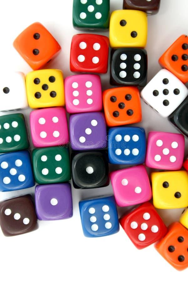 Many dice royalty free stock photography