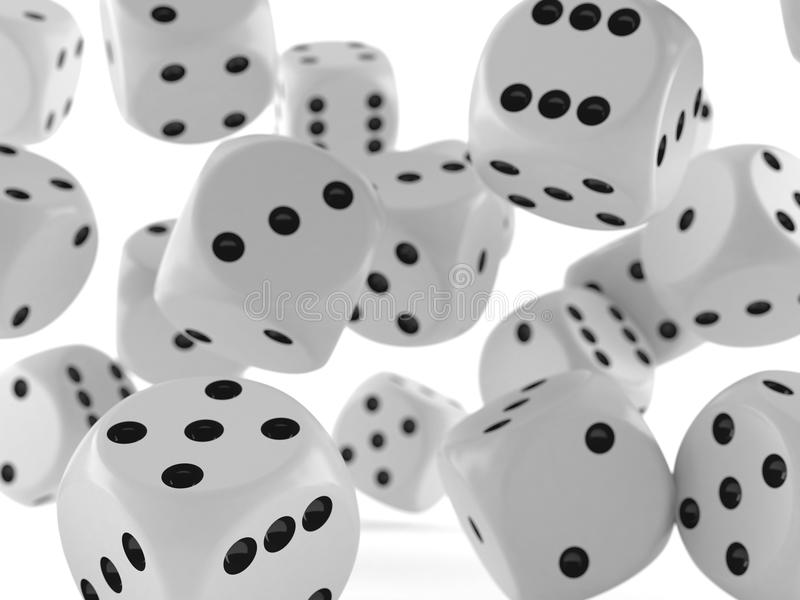 Many dice. On white background vector illustration