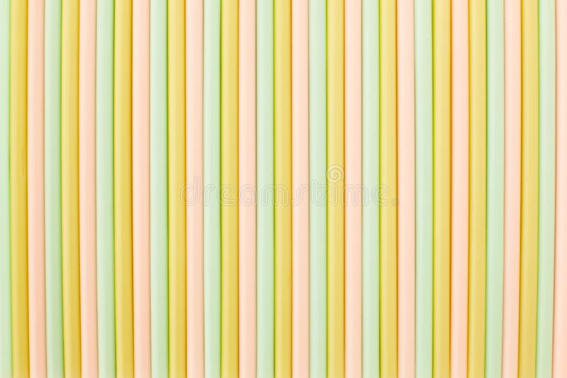 Many different colors of straws for drinking. royalty free stock photos