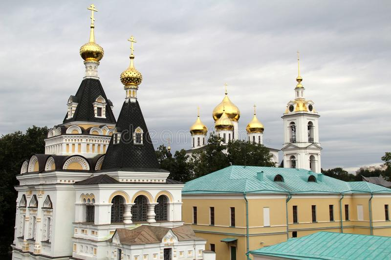 Many domes of churches stock photography