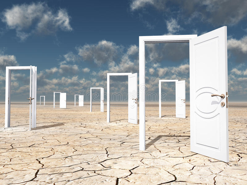 Download Many Doors Stock Photo - Image: 25425630