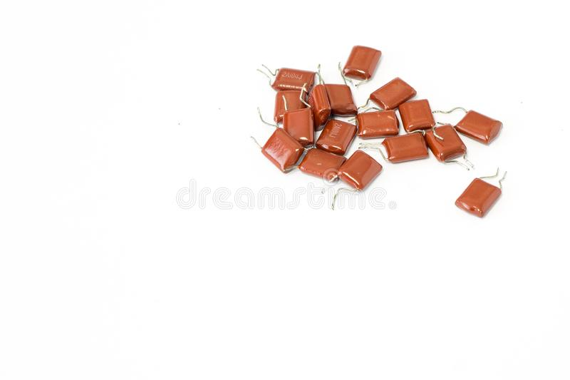 Resistors in electronic lab stock photos