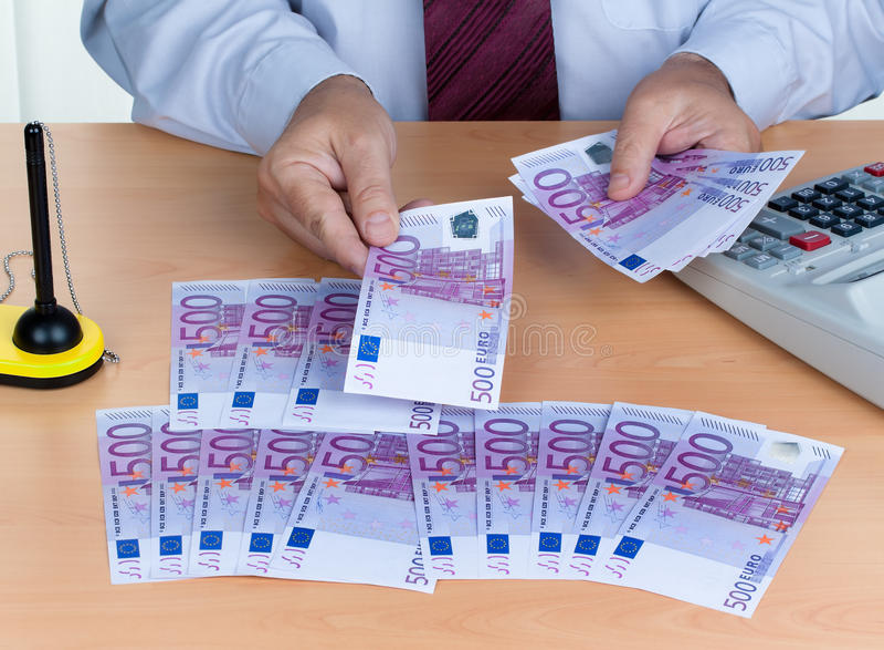 Many Euro Banknotes Royalty Free Stock Photography