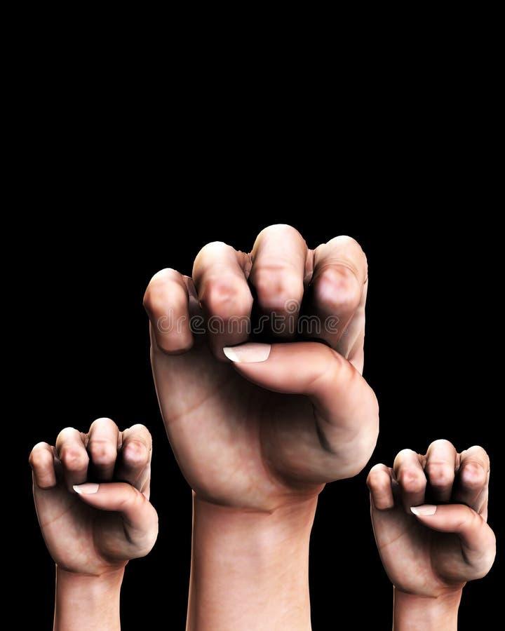 Many Fists Stock Photo