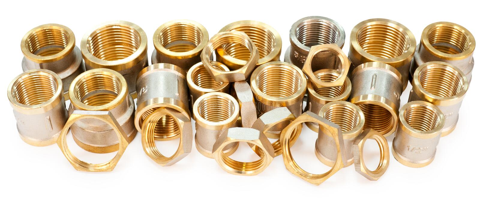 Many fittings royalty free stock photography