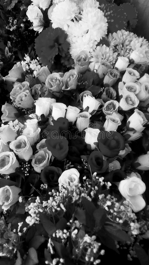Big bouquet. Many flowers in big bouquet stock photo
