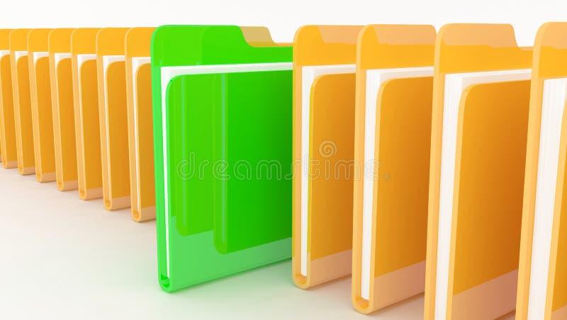 Many folders royalty free illustration