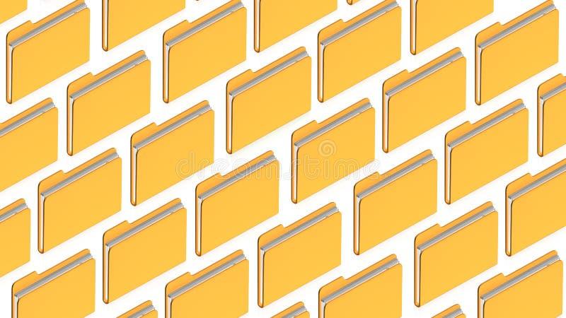 Many Folders Stock Photography