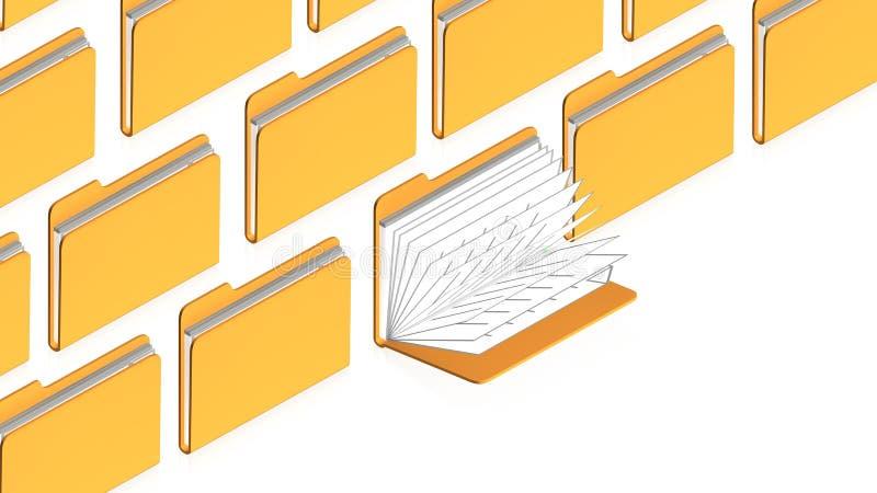 Download Many folders stock illustration. Image of online, design - 25947826
