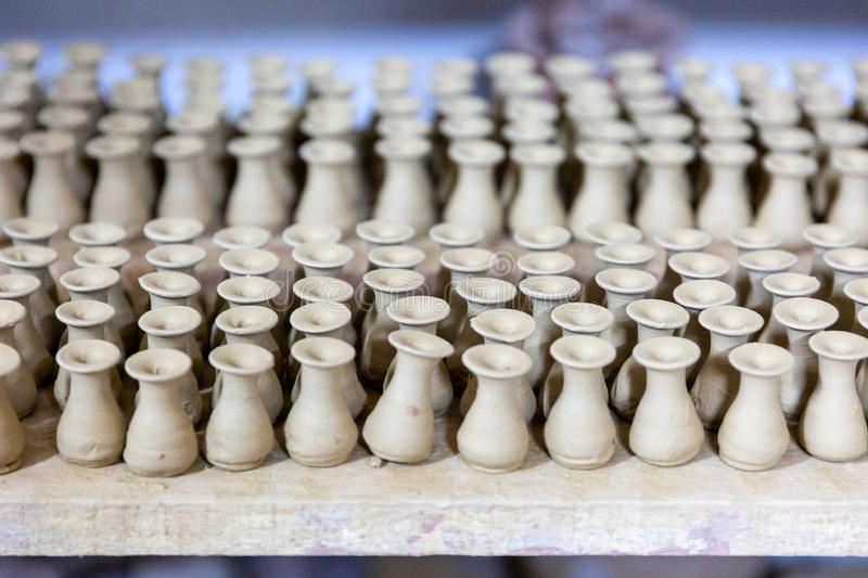 Handmate pottery things royalty free stock photo