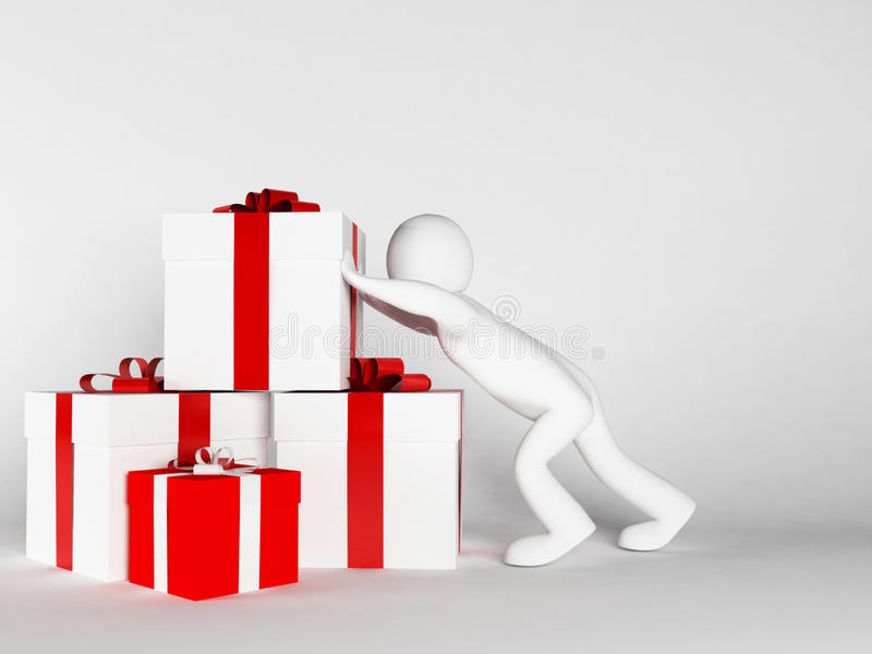 Many Gifts Specifically For A Holiday Stock Illustration