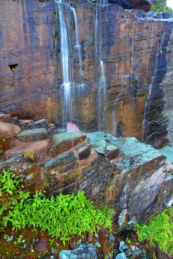 Many Glacier Waterfall - Montana Royalty Free Stock Image