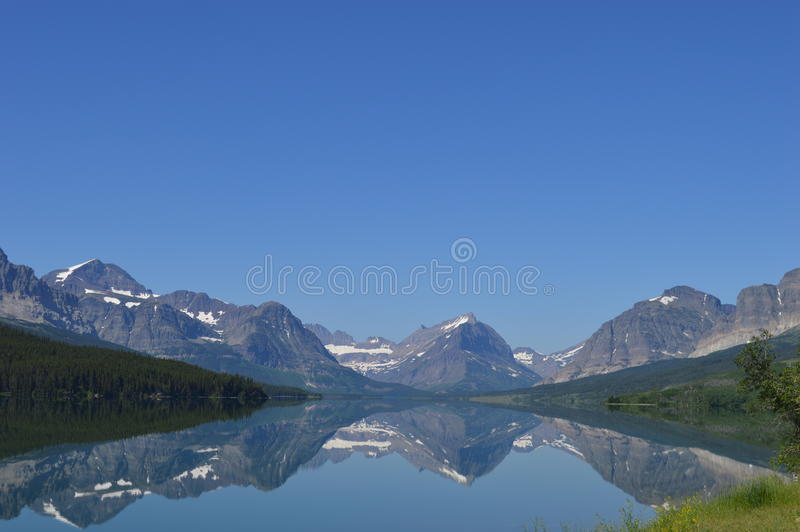 Many Glaciers Reflection royalty free stock images