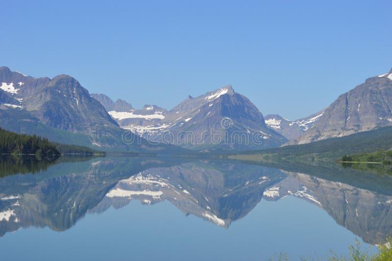 Many Glaciers Reflection royalty free stock photography