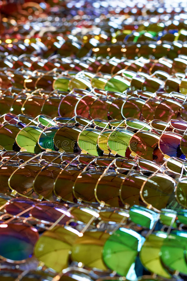 Many glasses royalty free stock images