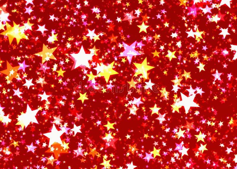 Many glow shining stars background. S. Holiday symbol vector illustration