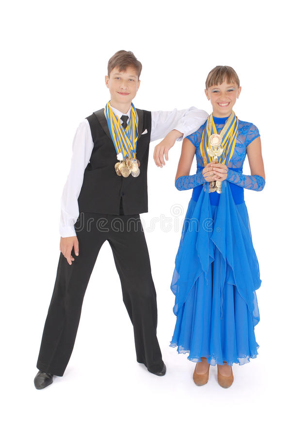 Many Gold, Silver, And Bronze Medals Stock Images