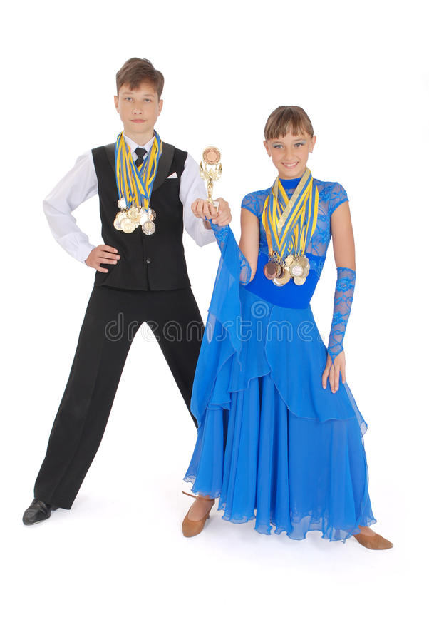 Many Gold, Silver, And Bronze Medals Royalty Free Stock Image