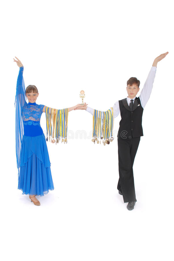 Many gold, silver, and bronze medals winner royalty free stock image