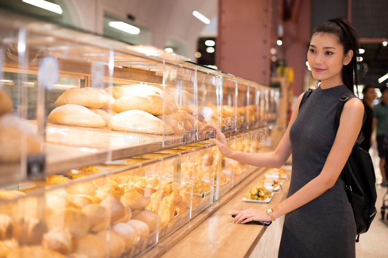 Many Good Looking design and colorful Bakery Cake. Many Good Looking design and colorful Bakery sandwich in refrigerator windows show, present variety of Price royalty free stock image