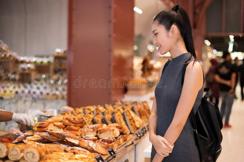 Many Good Looking design and colorful Bakery Cake. Many Good Looking design and colorful Bakery sandwich in refrigerator windows show, present variety of Price stock photo
