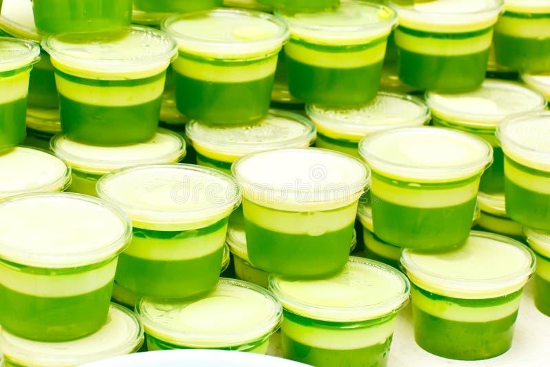 Many green dessert. This is make of Pandanus leaf stock photo