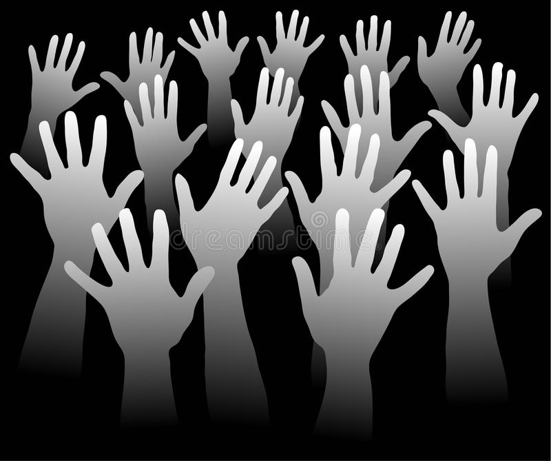 Many hands stock image