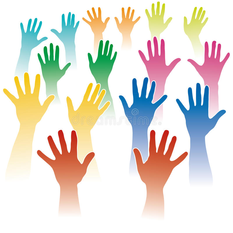 Many hands royalty free stock image