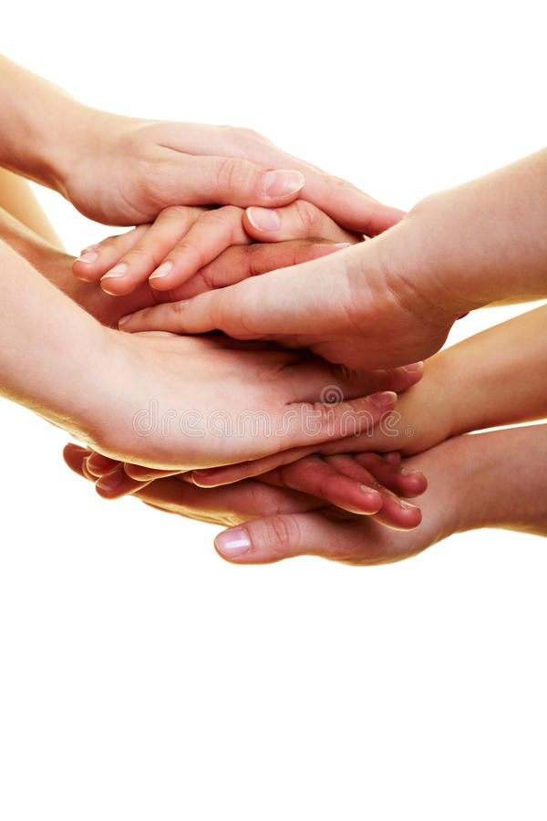 Download Many hands on top stock image. Image of copy, group, grasp - 14837867