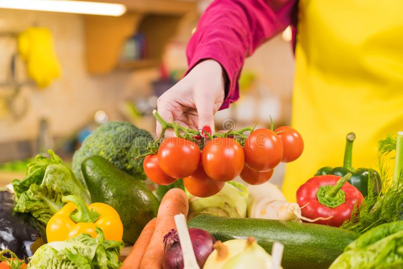 Many healthy colorful vegetables stock image