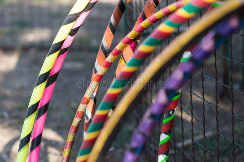 Various hula hoops stock image