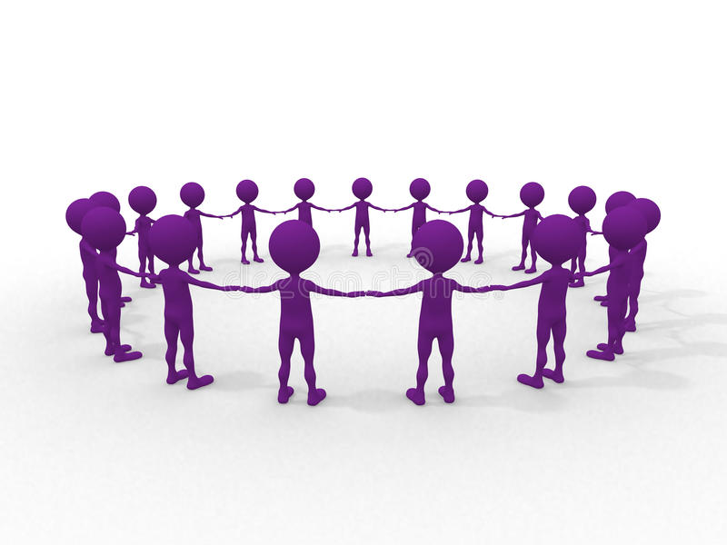 Download Many Humans Hand To Hand In A Circle Stock Illustration - Image: 20509756
