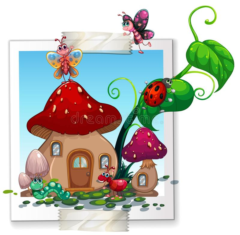 Download Many Insects At The Mushroom House Stock Vector - Illustration of lifestyle, garden: 99294829
