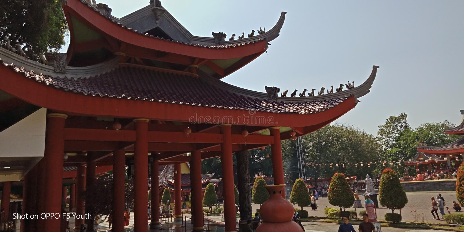 Many interesting historical historical temples visited. stock image