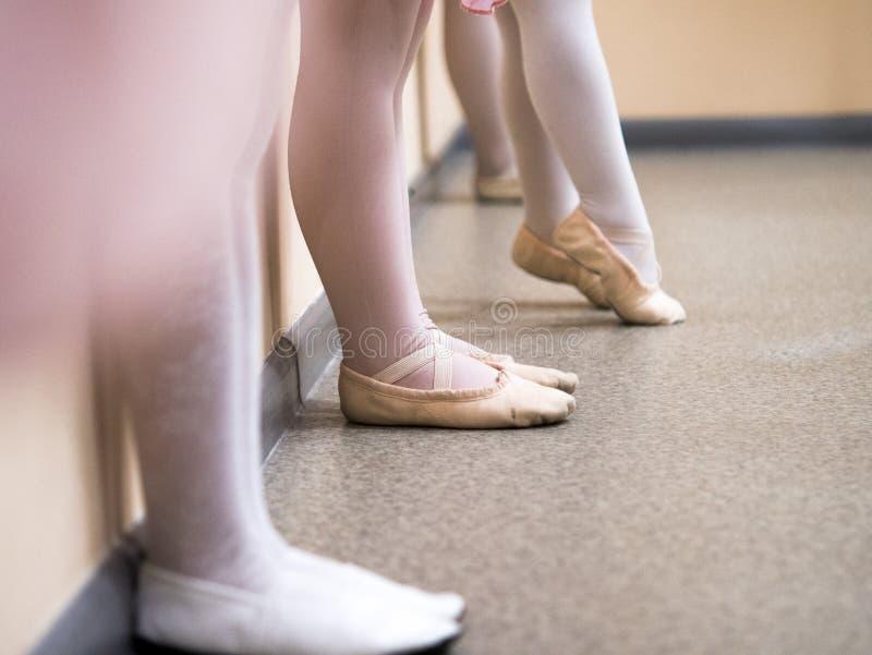Legs ballerina kids royalty free stock image