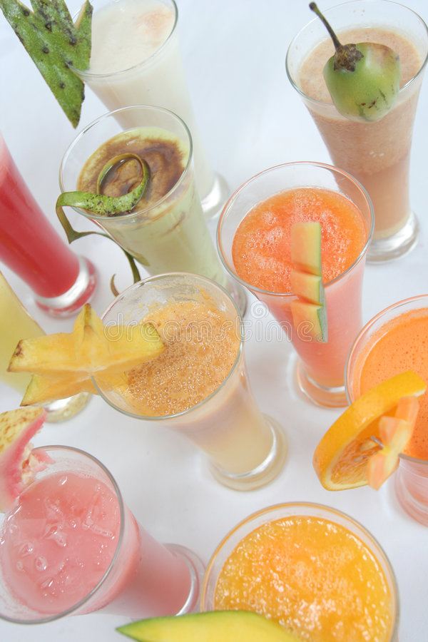 Many Kind Of Juices Stock Photos