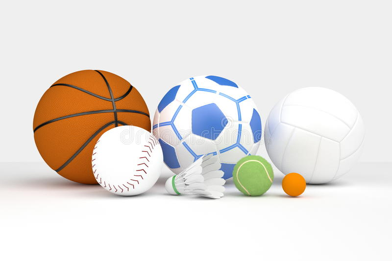 Many kinds of balls. royalty free illustration