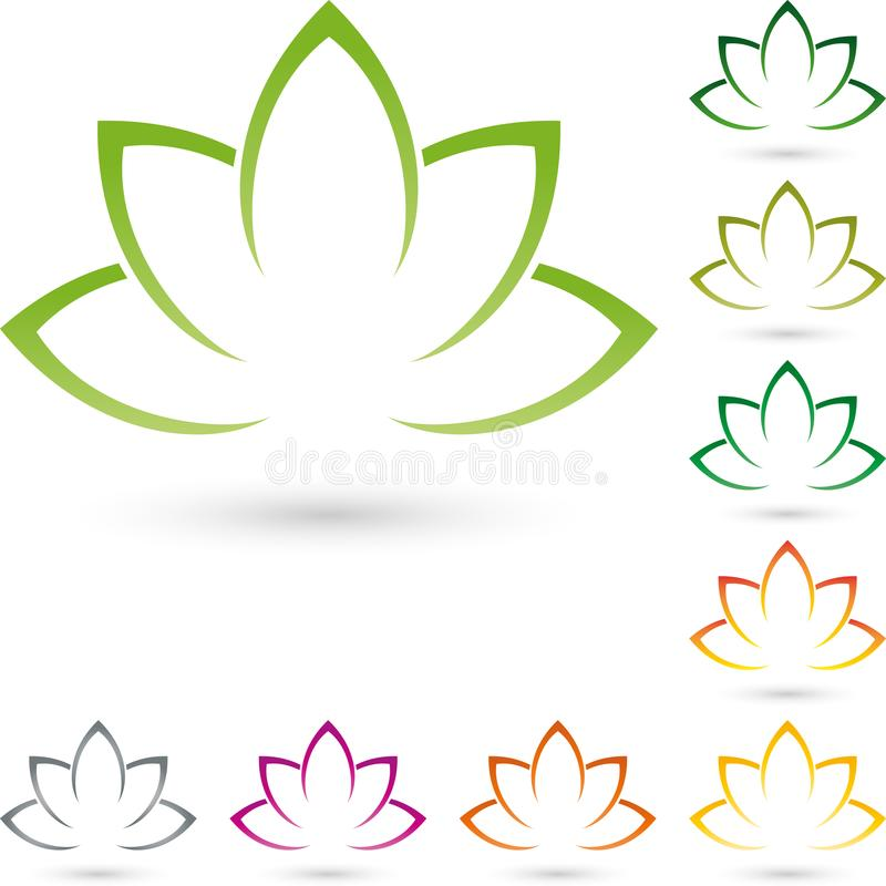 Many leaves, plant in color, plant and nature logo vector illustration