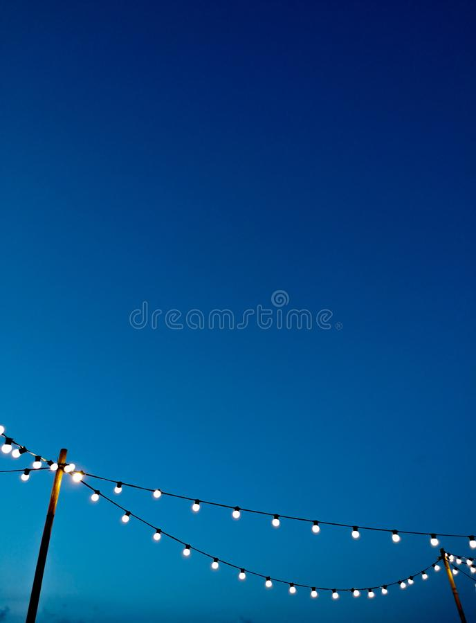 Light bulb wiht blue sky royalty free stock photos