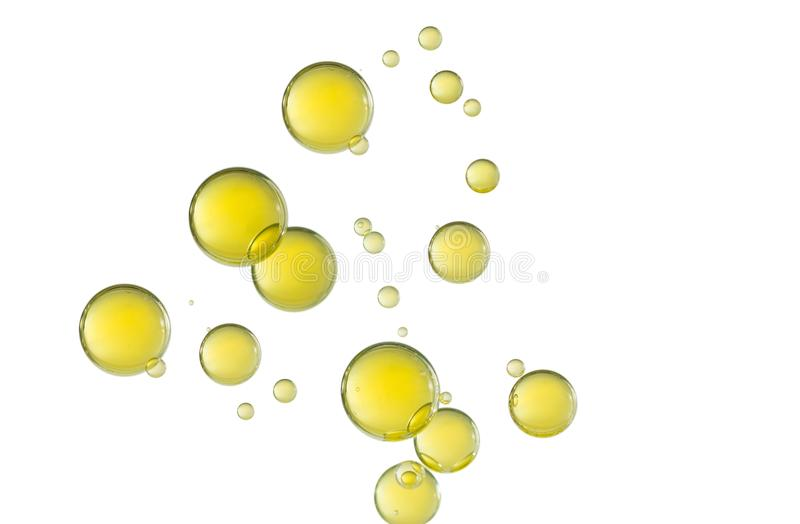 Yellow oil bubbles royalty free stock photo