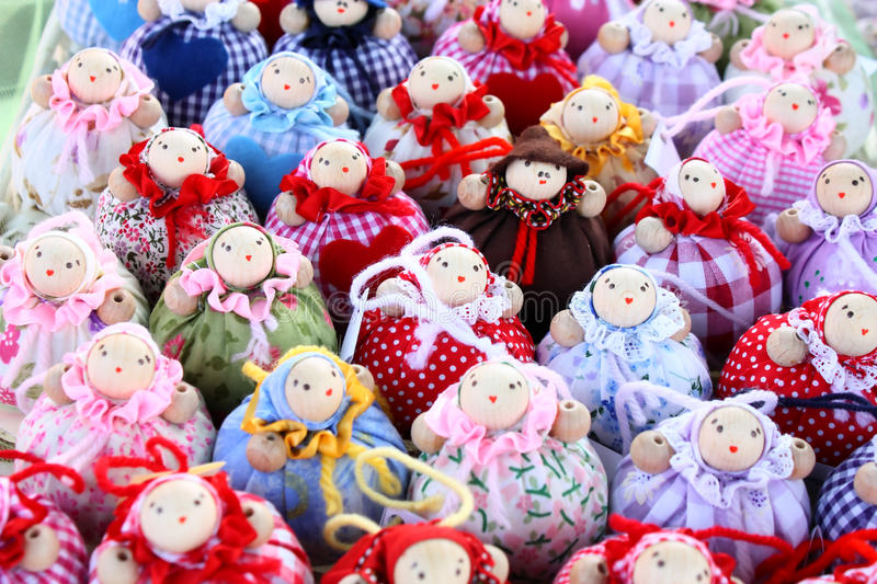Many little dolls royalty free stock photo