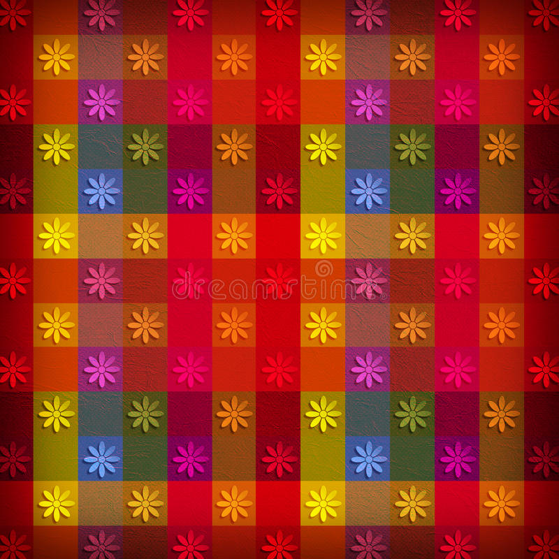 Many little flowers on abstract background. Many little flowers on abstract patterned background stock photo